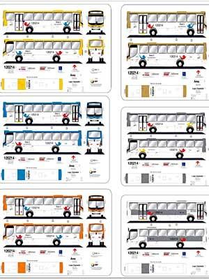 Nova identidade visual dos ônibus que circularão no DF a partir de julho (Foto: Reprodução)