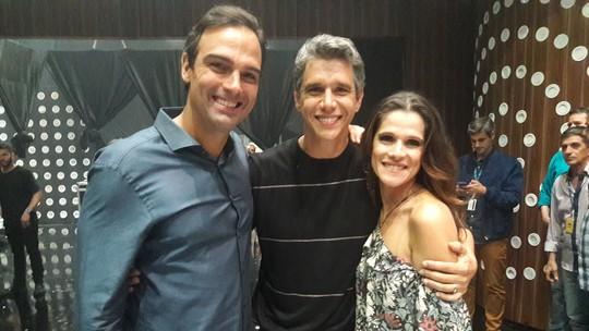 Tadeu Schmidt descobre brecha no regulamento do Artilheiro Musical e Marcio Garcia entra na brincadeira