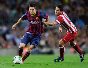 Lionel Messi e Koke Resurreccion Barcelona x Atlético de Madrid (Foto: Getty Images)