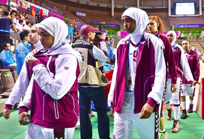 basquete dos Jogos Asiáticos, entre Qatar e Mongólia (Foto: Reuters)