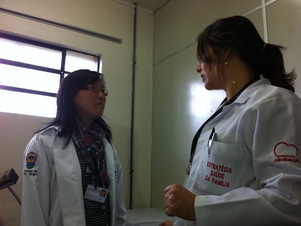 Médica argentina Marcela Chwescteiger vai trabalhar na Zona Sul de Porto Alegre (Foto: Luiza Gaidzinski Carneiro/RBS TV)