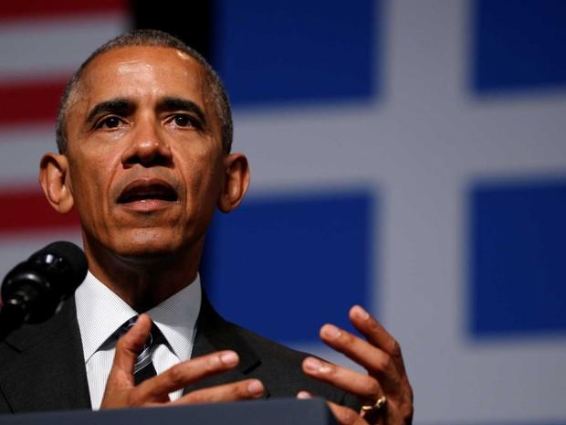 Presidente dos Estados Unidos, Barack Obama, faz discurso em Atenas, na Grécia, nesta quarta-feira (16)  (Foto: Kevin Lamarque/ Reuters)