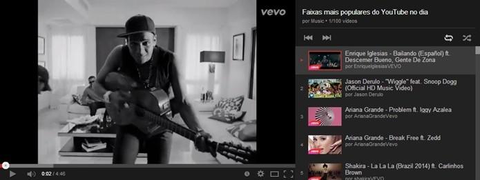 YouTube Mix cria playlists com apenas um clique (Foto: Reprodução/Raquel Freire)
