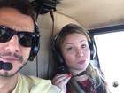 Cacau e Matheus curtem passeio de helicóptero no Rio