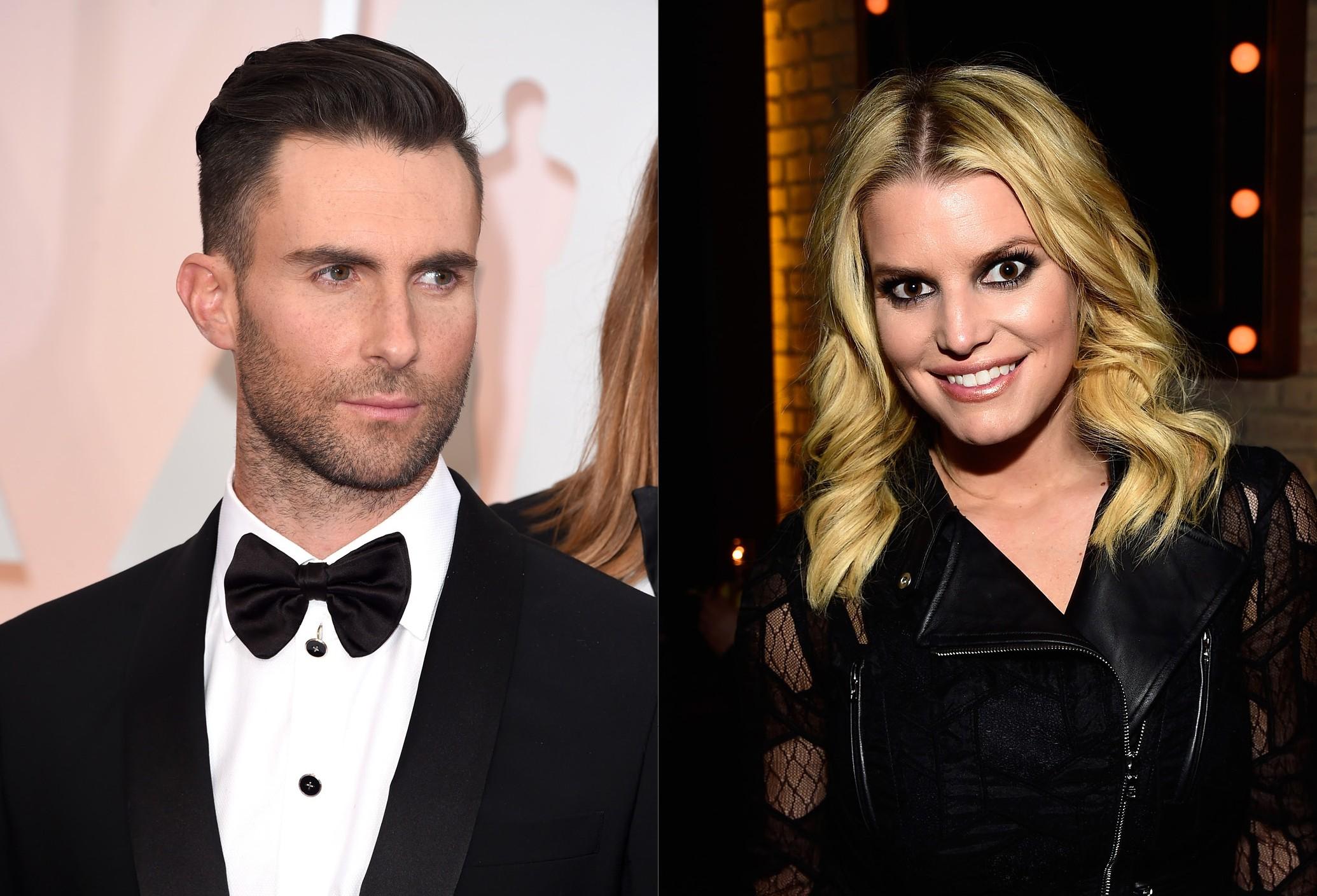 Adam Levine e Jessica Simpson (Foto: Getty Images)