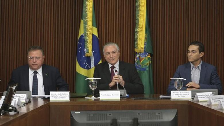 Temer_maggi_carne (Foto: José Cruz/Agência Brasil)