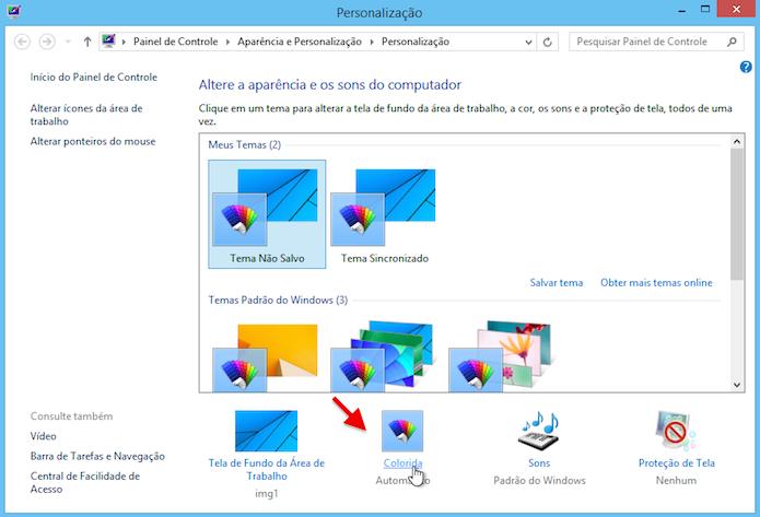 Personalizando cor das janelas do Windows (Foto: Reprodução/Helito Bijora)