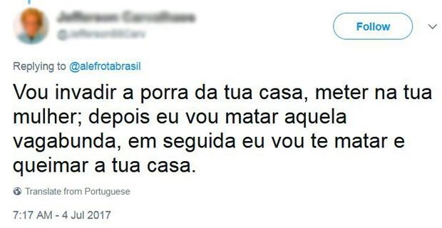 Alexandre Frota mostra post feito por seguidor (Foto: Reprodução/Twitter)