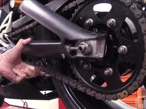 Corrente de moto com a tensão correta (Foto: G1)