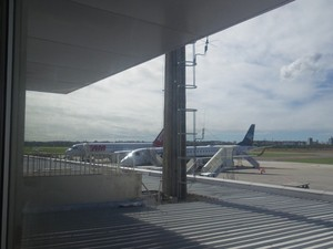 Mulher é retirada de voo onde estava Paulo Hartung (Foto: Caique Verli/ A Gazeta)