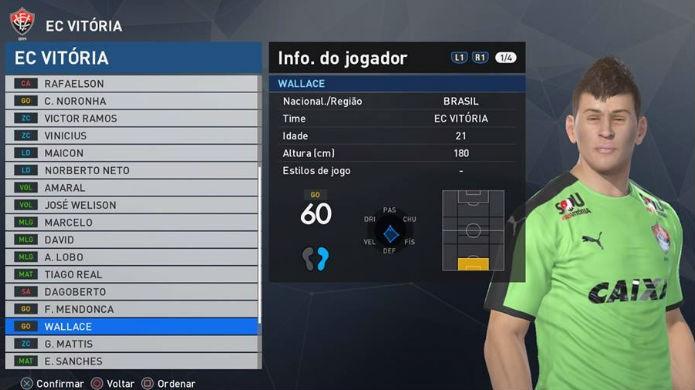 PES 2017: Wallace é um dos piores jogadores do Brasileirão (Foto: Reprodução/Thomas Schulze)