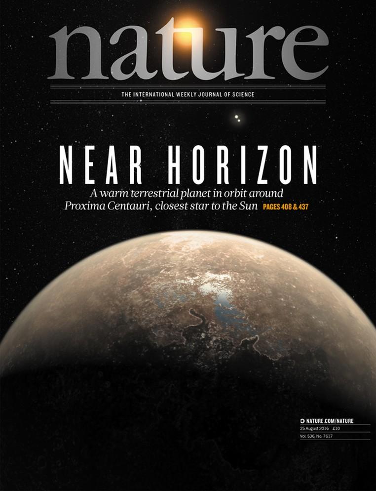 Capa da revista 'Nature' desta semana destaca descoberta de planeta Proxima b (Foto: Nature/Divulgação)