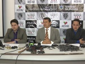 Quadrilha é presa suspeita de praticar vários crimes na Paraíba (Foto: Reprodução/TV Paraíba)
