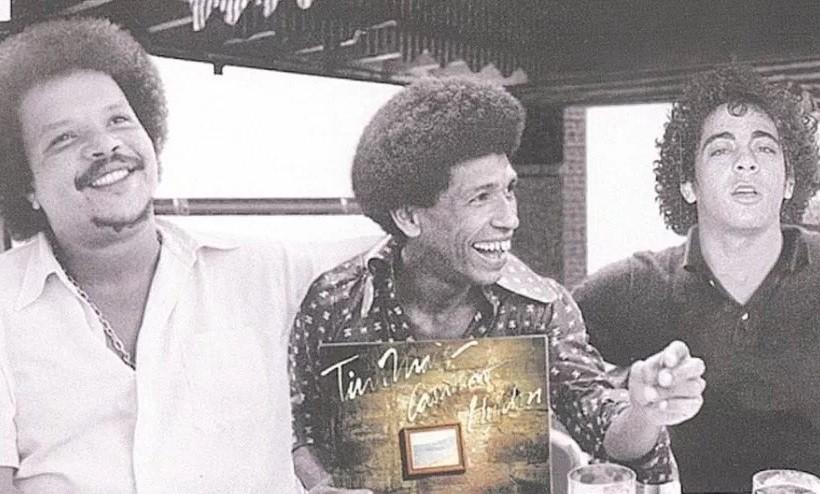 Na dcada de 70, Hyldon e Tim Maia gravaram um discos juntos, em um projeto que ainda contou com Cassiano (ao centro) (Foto: Divulgao)