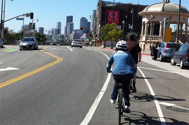Ciclovia em Los Angeles (Foto: Creative Commons/Flickr/ladotbikeblog)