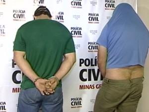 Suspeitos foram apresentados à Polícia Civil (Foto: Reprodução/TV Integração)