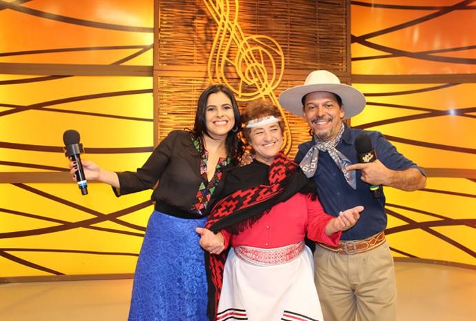 Berenice Azambuja participou do Galpão deste domingo (Foto: Divulgação/RBS TV)