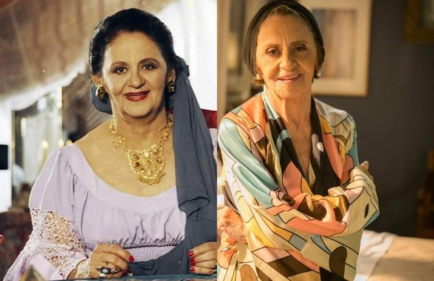 Laura Cardoso era avó de Igor (Ricardo Macchi) e matriarca da família de ciganos. Recentemente, a atriz esteve no ar como a vilã de 'Sol nascente' (Foto: TV Globo)
