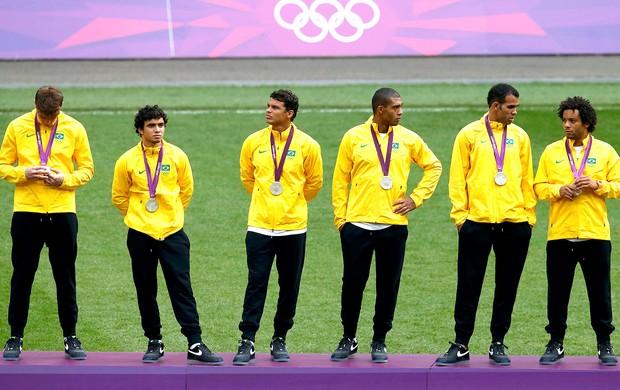 Brasil pódio prata Londres (Foto: Reuters)