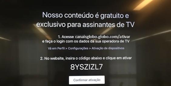 Ativação Apple TV - Canais Globo (Foto: Canais Globo)