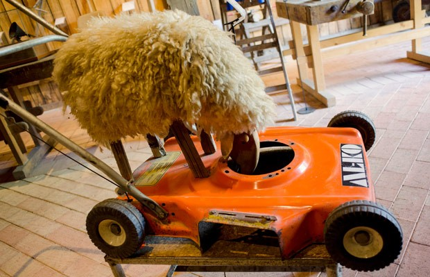 Peça ganhou nome de cortador de grama 'natural' (Foto: Joe Klamar/AFP)