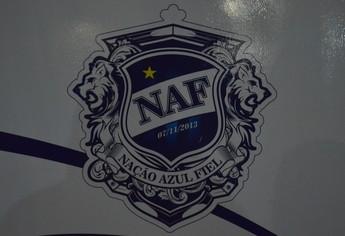escudo da NAF (Foto: Weldon Luciano/GloboEsporte.com)