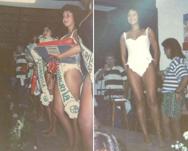Fabíula ganhou concurso de beleza (Foto: Arquivo Pessoal)