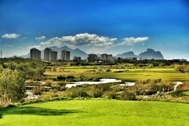 Após 112 anos, o golf volta à Olimpíada em campo que está sendo montado na reserva de Marapendi (Foto: Rio 2016/Hanse Golf Design)