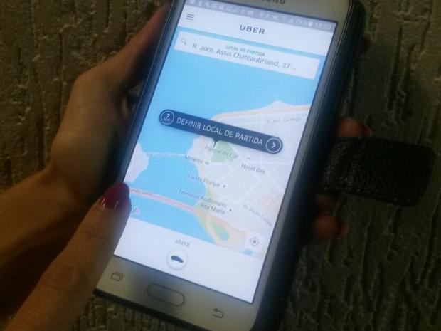 Serviço Uber começou a operar em setembro em Florianópolis (Foto: G1)