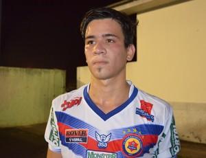 Meia João Victor, da base do Vilhena e autor do gol na Série D (Foto: Eliete Marques)