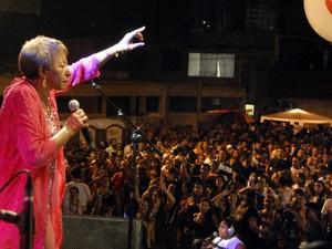 Lecy Brandão no palco Eldorado, no primeiro dia da Virada Cultural (Foto: Clovis Miranda/Semcom)