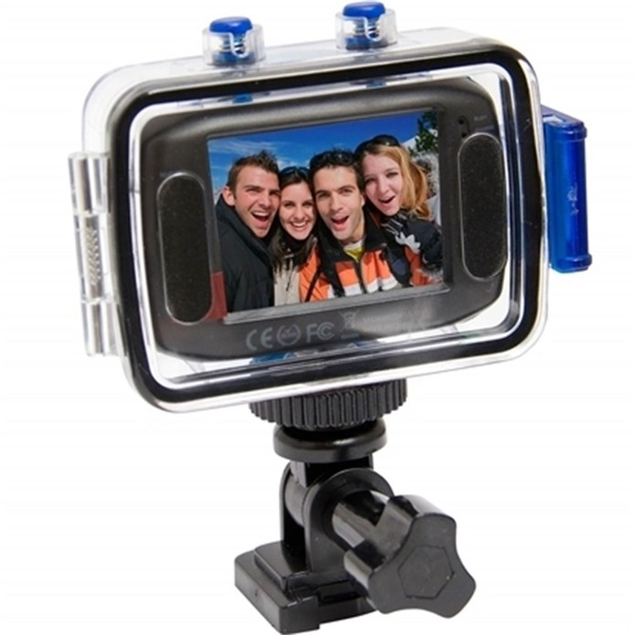 Action cam da Vivitar opera com cartão microSD de até 32 GB (Foto: Divulgação/Vivitar)