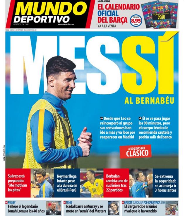 Messi manchete Mundo Deportivo