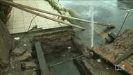 Cano de água potável estourado é flagrado em São Luís