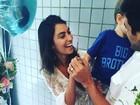 Felipe Simas anuncia que a mulher   está grávida do 2º filho: 'É menina'