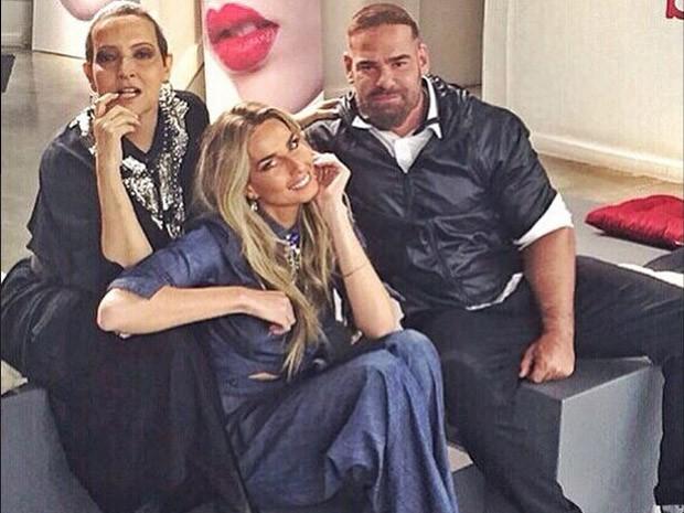 Betty Lago, Mari Weickert e Daniel Hernandez no Desafio da Beleza (Foto: Reproduo/Instagram)