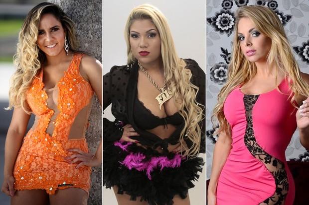 Mulher Melão, Mulher Filé e Jéssica Lopes (Foto: Divulgação/Daniel Pinheiro - Isac Luz/ EGO - Divulgação/Lelo Brum)