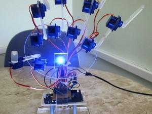 Mão robótica acionada por webcam lhe rendeu um prêmio em um concurso promovido pela Intel (Foto: IFSC/Divulgação)