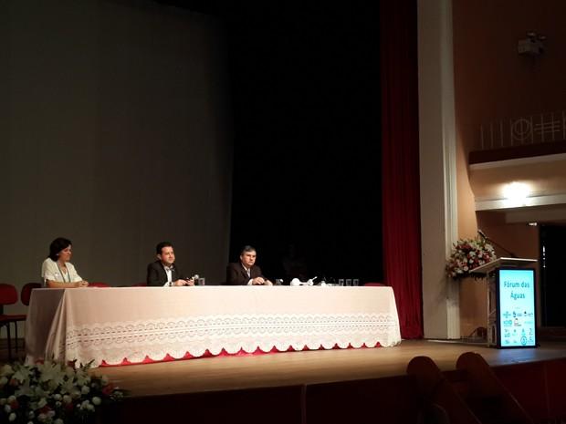 Fórum das Águas discutiu a crise hídrica e soluções sustentáveis em Varginha, MG (Foto: Samantha Silva / G1)