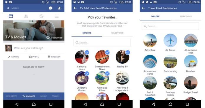 Facebook testa organizar feed de notícias por categoria na rede social (Foto: Reprodução/TNW)