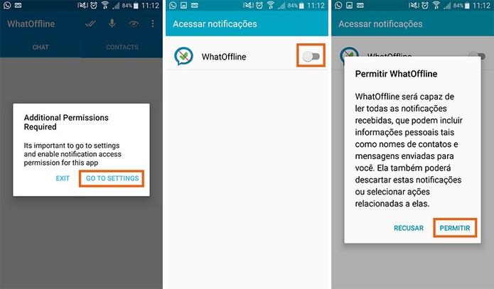 Adicione as permissões para acessar as notificações no celular ao abrir o app (Foto: Reprodução/Barbara Mannara)