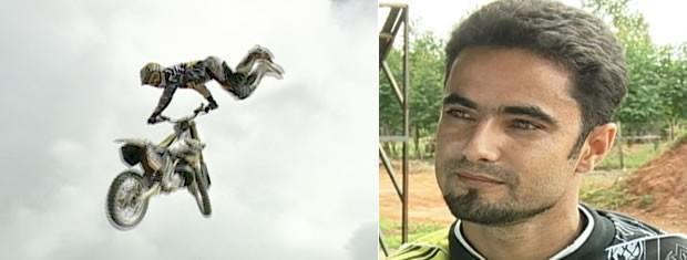 Piloto brasileiro sofreu acidente em MT e teve ferimento em uma das mãos  (Foto: Reprodução TVCA)
