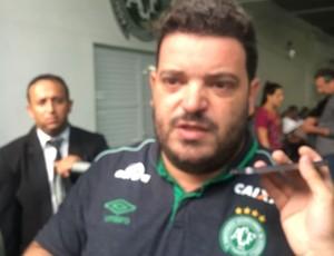 Vitor Hugo Nascimento, chefe do departamento de desempenho da Chapecoense (Foto: Amanda Kestelman)