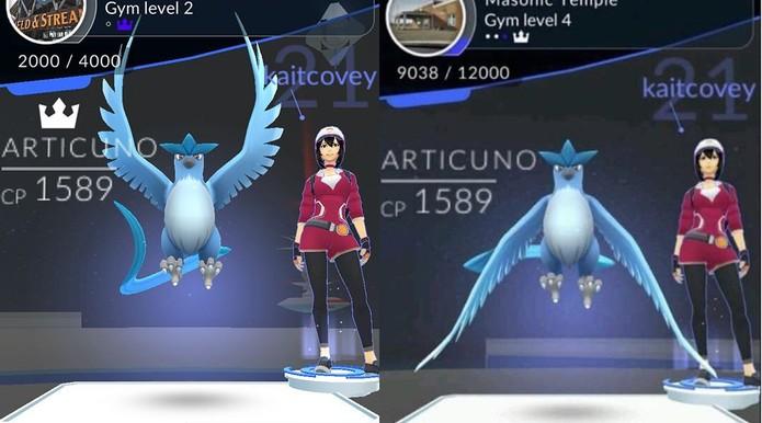 Articuno foi dado por acidente em Pokémon Go (Foto: Reprodução/Felipe Vinha)
