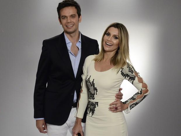 Otaviano Costa e Flávia Alessandra na festa de lançamento de Salve Jorge (Foto: Divulgação/TV Globo)