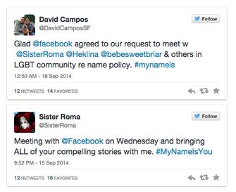 Em tuíte, Sister Roma confirma encontro com representantes do Facebook (Foto: Reprodução/Twitter)