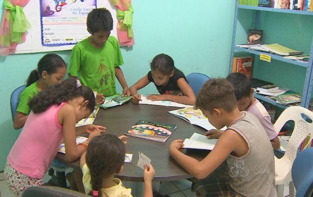 Biblioteca do projeto (Foto: Reprodução/TV Amapá)