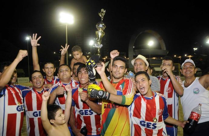 Equipe de Silves é campeã da Copa Manaus de Beach Soccer (Foto: Antônio Lima/Semjel)