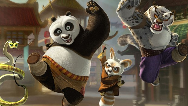 """""""Kung Fu Panda"""" agita a TV Globinho desse sábado, 29 (Foto: Divulgação/Reprodução)"""