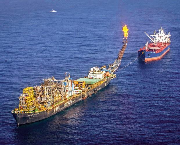 Empresa;Petrobras;Plataforma em Jubarte (ES) (Foto: Rafael Andrade/Folhapress)